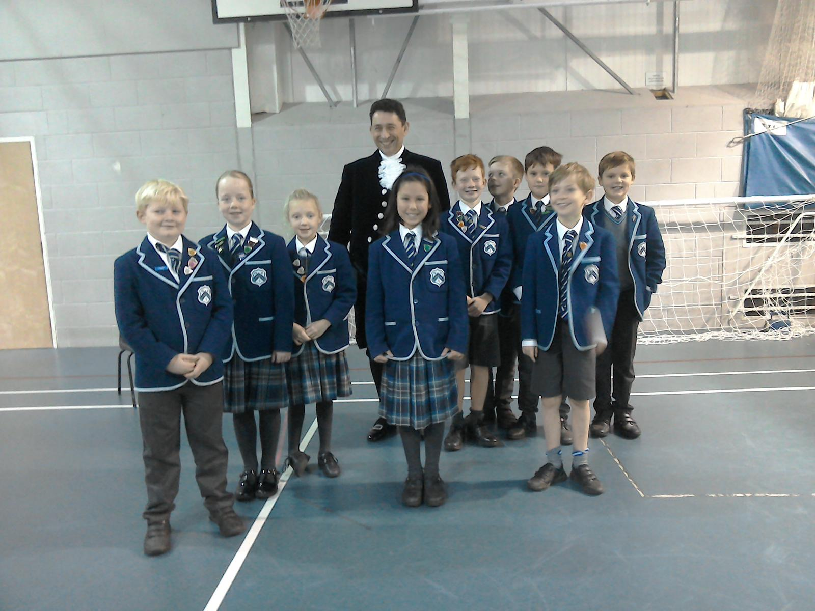 Westville House School have a special visit from the High Sheriff of West Yorkshire Paul Lawrence