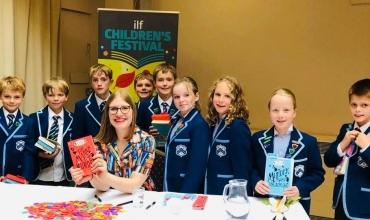 Westville House School visit the Ilkley literature festival author event 2019